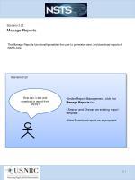 scenario 3 22 manage reports