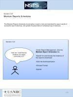 scenario 3 23 maintain reports schedules