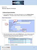 scenario 3 23 maintain reports schedules1