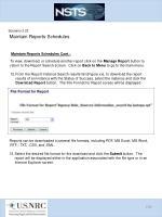 scenario 3 23 maintain reports schedules10