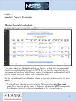 scenario 3 23 maintain reports schedules11
