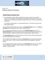 scenario 3 23 maintain reports schedules4