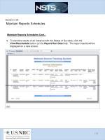 scenario 3 23 maintain reports schedules5