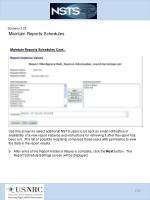 scenario 3 23 maintain reports schedules7