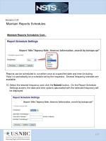 scenario 3 23 maintain reports schedules8