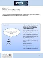scenario 3 28 maintain licensee relationship