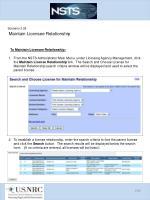scenario 3 28 maintain licensee relationship1