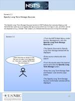 scenario 3 3 specify long term storage sources