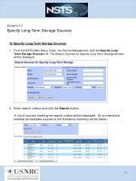 scenario 3 3 specify long term storage sources1