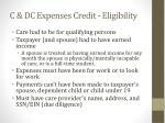 c dc expenses credit eligibility