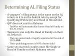 determining al filing status