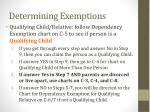 determining exemptions2