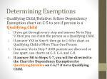 determining exemptions3