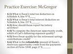 practice exercise mcgregor9
