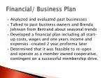 financial business plan