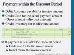payment within the discount period