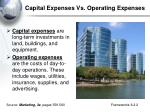 capital expenses vs operating expenses