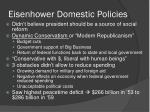eisenhower domestic policies1