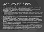 nixon domestic policies1