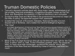 truman domestic policies