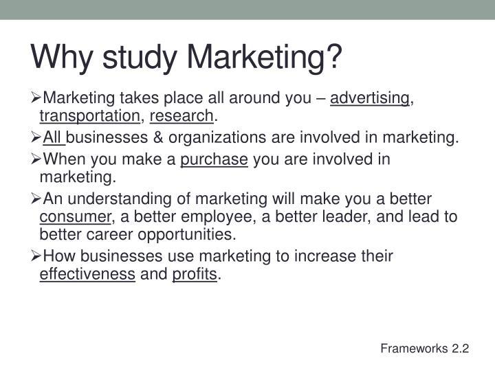 Why study Marketing?