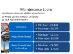 maintenance loans