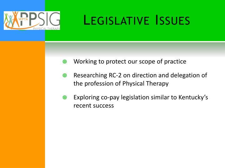 Legislative Issues