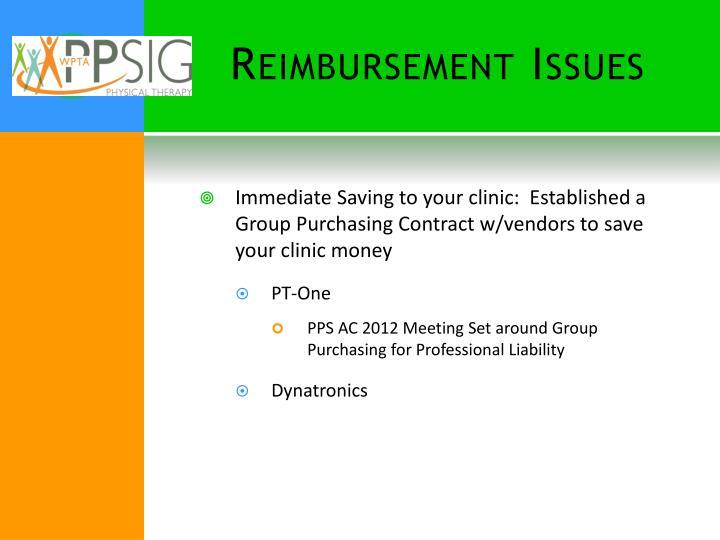 Reimbursement Issues