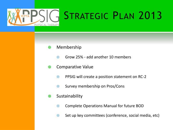 Strategic Plan 2013