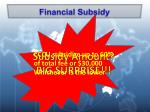 financial subsidy