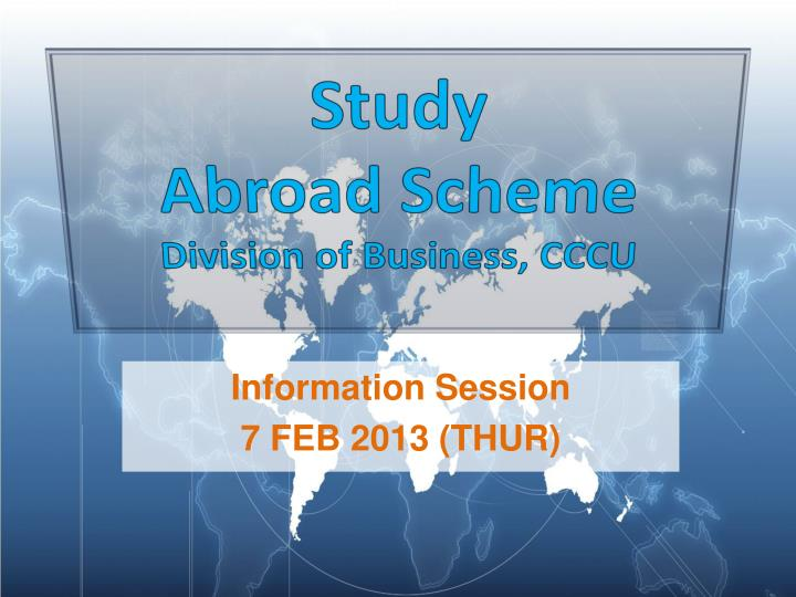 study abroad scheme division of business cccu n.