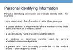 personal identifying information
