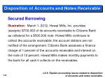 disposition of accounts and notes receivable1