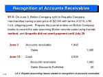 recognition of accounts receivables5