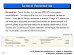 sales of receivables2