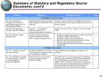 summary of statutory and regulatory source documents cont d3