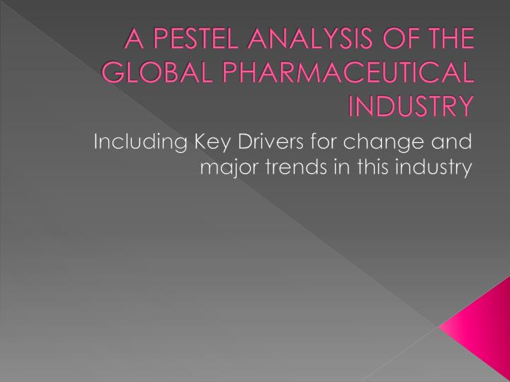 a pestel analysis of the global pharmaceutical industry n.