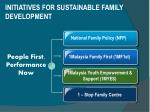 initiatives for sustainable family development
