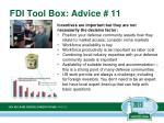 fdi tool box advice 11
