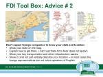 fdi tool box advice 2