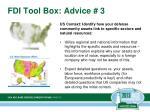 fdi tool box advice 3