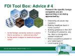 fdi tool box advice 4