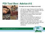 fdi tool box advice 6