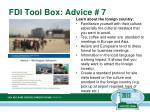 fdi tool box advice 7