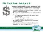 fdi tool box advice 8