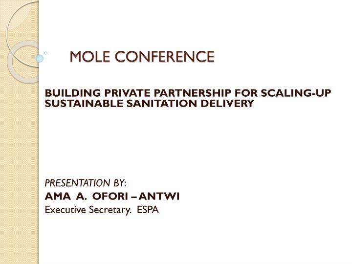 mole conference n.