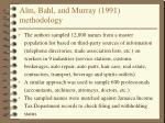 alm bahl and murray 1991 methodology