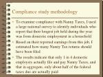 compliance study methodology
