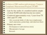 evolution of irs random audit programs taxpayer compliance measurement program tcmp
