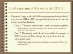 field experiment kleven et al 2011